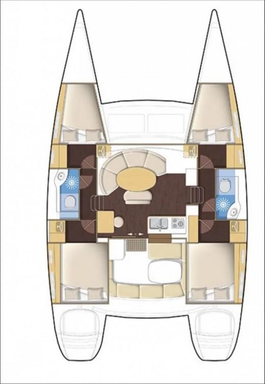 Location bateau Peloponnese pas cher Lagoon 380 - 4 + 2 cab.
