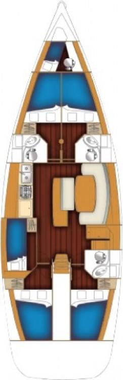 Location bateau Bénéteau Cyclades 50.5 - 5 + 1 cab. à Péloponnèse sur Samboat