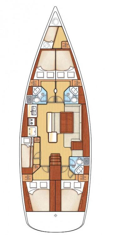 Location bateau Rogač pas cher Oceanis 50 Family