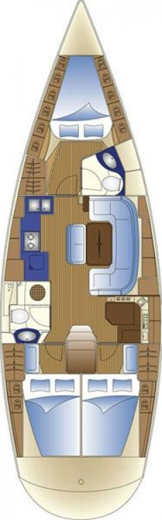 Location bateau Leucade pas cher Cruiser 42