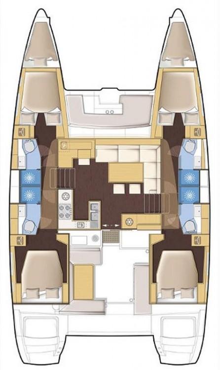 Lagoon Lagoon 450 F - 4 + 2 cab. entre particuliers et professionnel à Péloponnèse