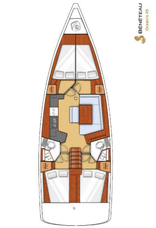Location bateau Bénéteau Oceanis 45 à Péloponnèse sur Samboat