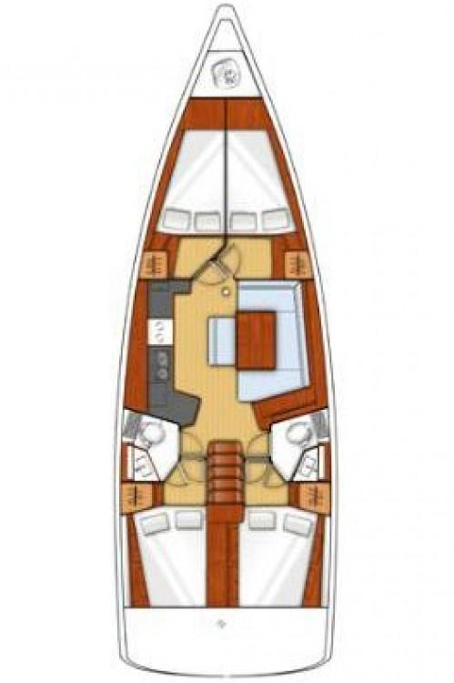 Location bateau Croatie pas cher Oceanis 45 - 4 cab.