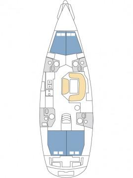 Location bateau Jeanneau Sun Odyssey 49i à Kaštela sur Samboat