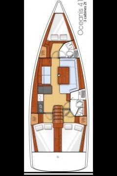 Location yacht à Göcek - Bénéteau Oceanis 41 sur SamBoat