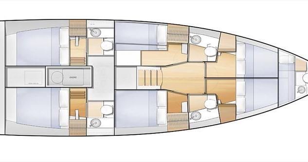 Location bateau Jeanneau Sun Loft 47 - 6 + 1 cab. à Athènes sur Samboat