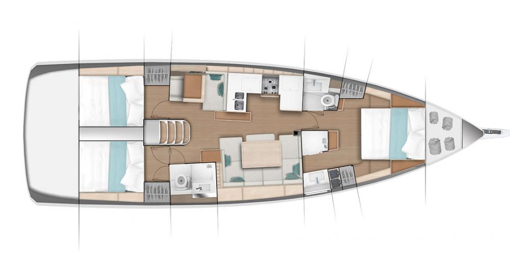 Location bateau Göcek pas cher Sun Odyssey 490