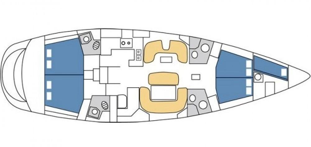 Jeanneau Sun Odyssey 54DS entre particuliers et professionnel à ACI Marina Split