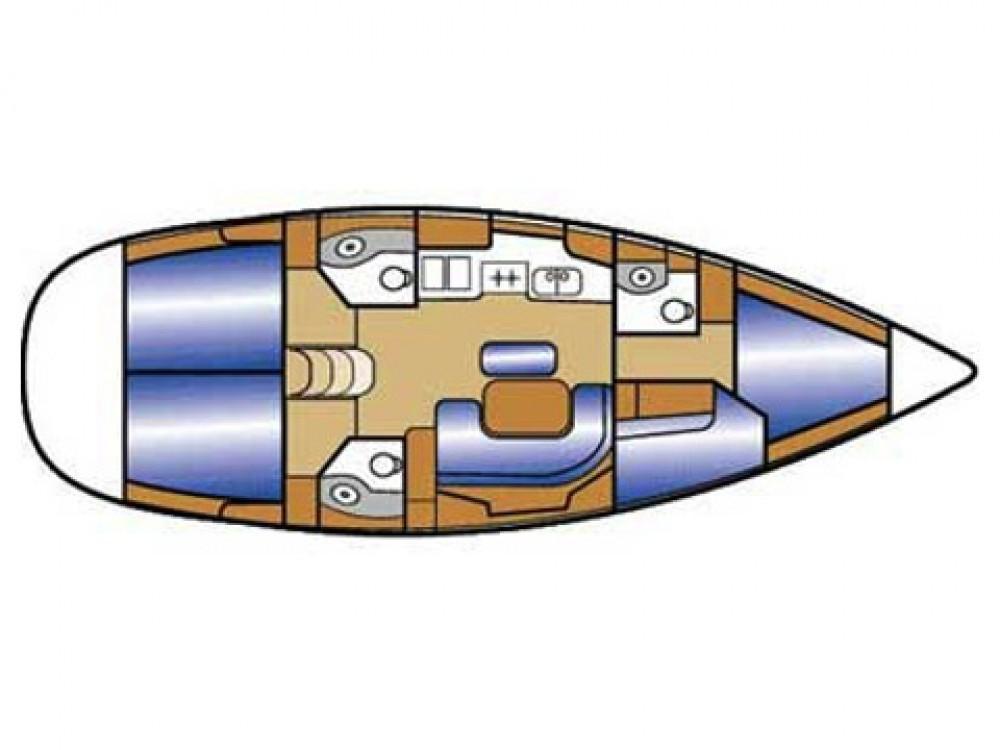 Bénéteau Oceanis 423 entre particuliers et professionnel à Pirovac