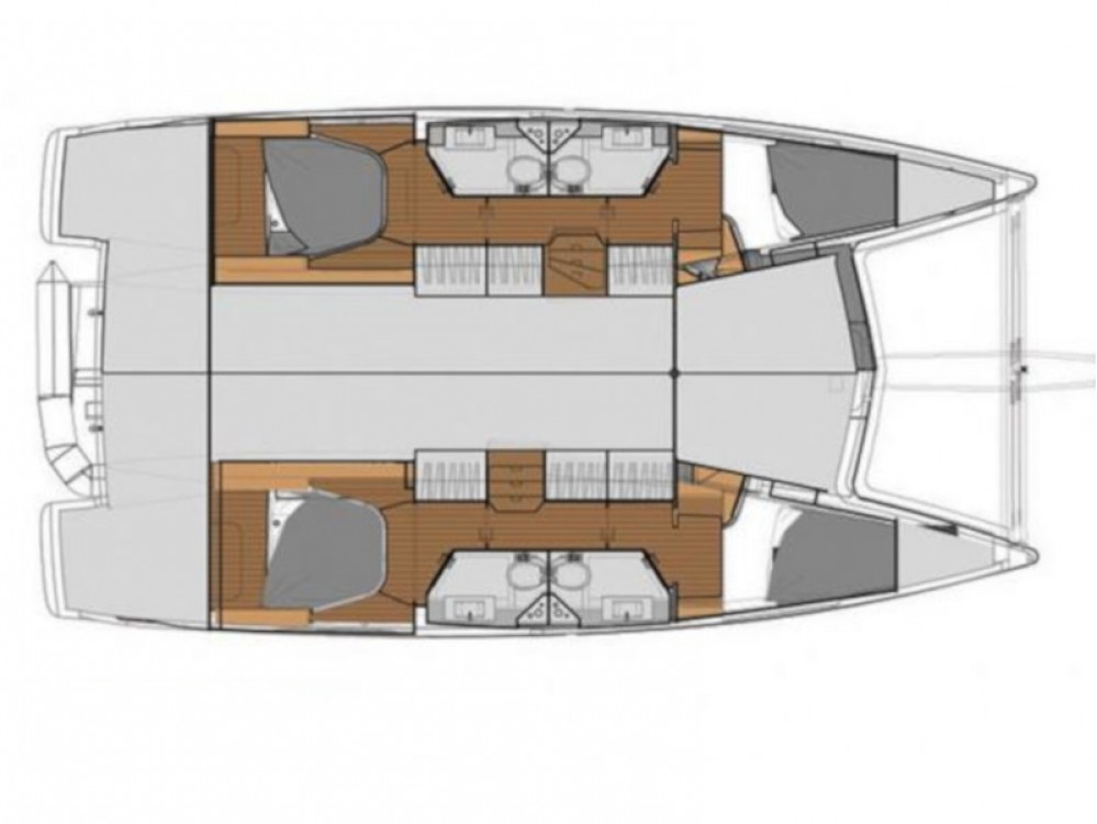 Location yacht à Marsala Marina - Fountaine Pajot Fountaine Pajot Lucia 40 sur SamBoat