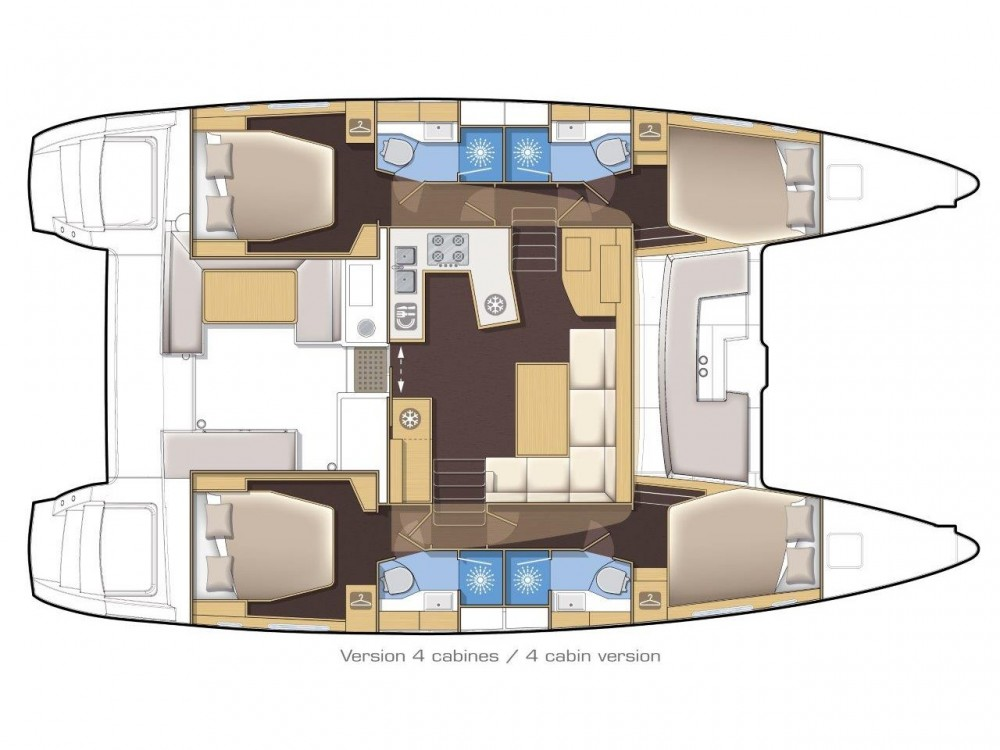 Louez un Lagoon Lagoon 450 F (2019) ANJA equipped with generator, A/C (saloon+cabins), water maker, washer/dryer, dishwasher, microwave oven à Slano