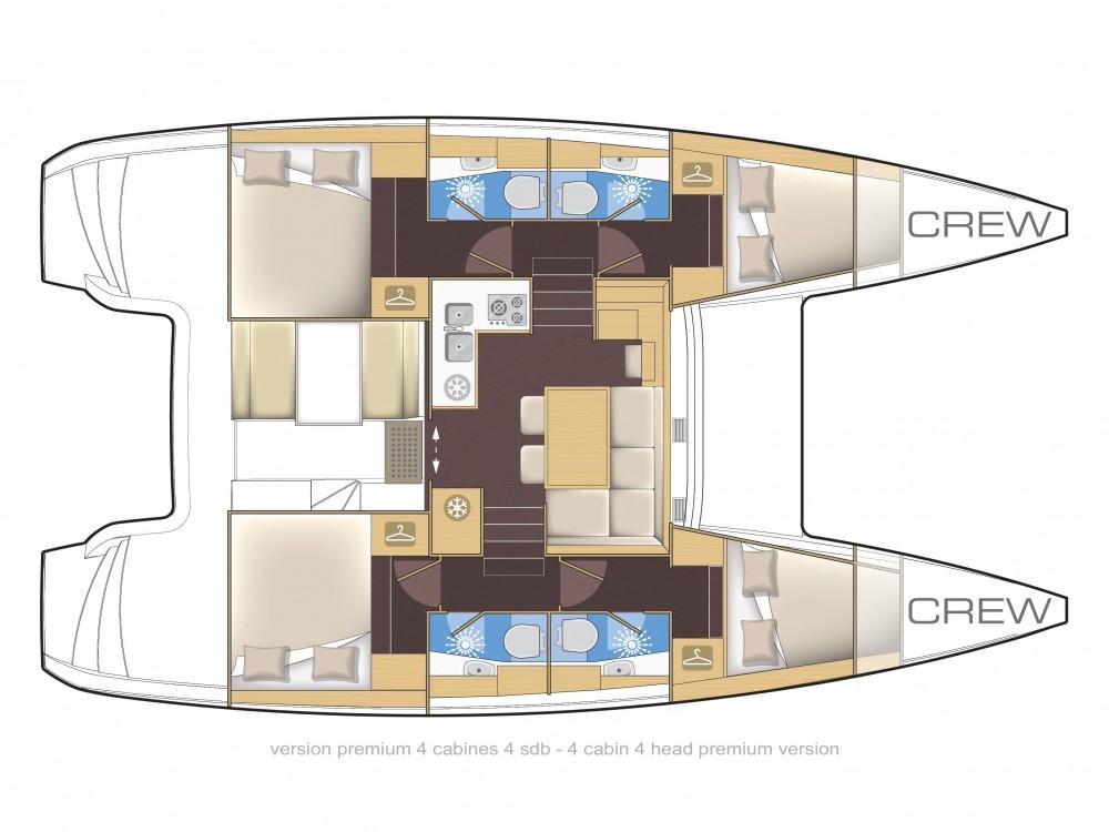 Location Catamaran à Spalato - Lagoon Lagoon 39 (2014)