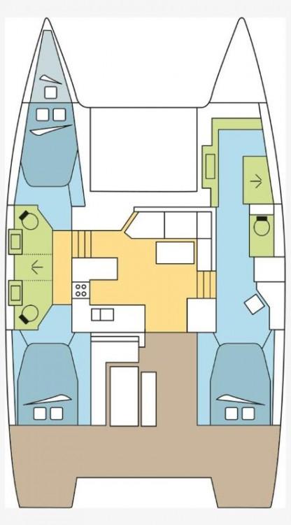 Location Catamaran à Croatie - Fountaine Pajot Fountaine Pajot Astrea 42 - 3 + 1 cab.