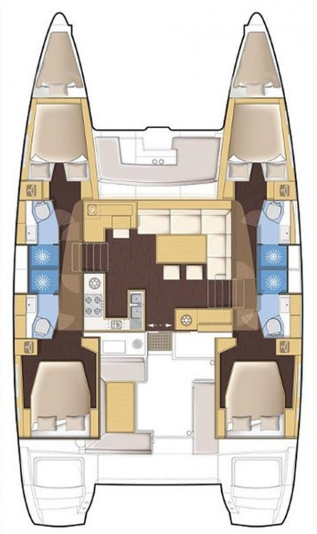 Location yacht à Péloponnèse - Lagoon Lagoon 450 F - 4 + 2 cab. sur SamBoat