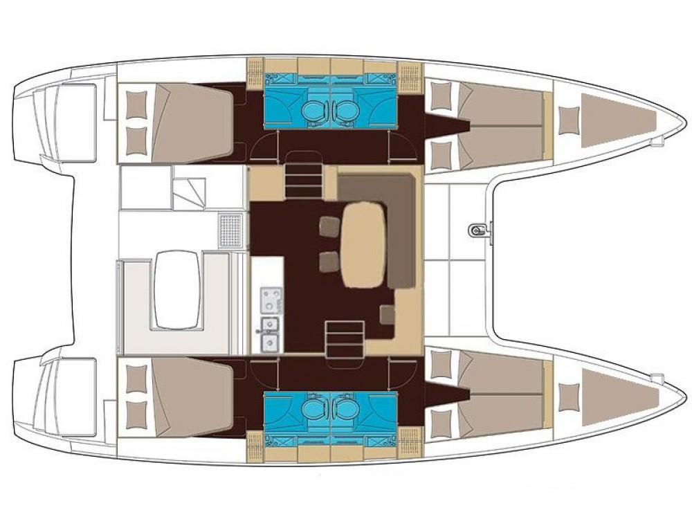 Location yacht à Marina d'Arechi - Lagoon Lagoon 400 S2 sur SamBoat