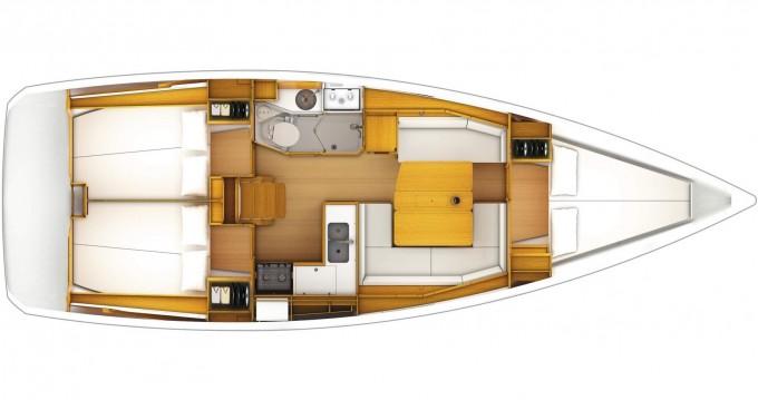 Jeanneau Sun Odyssey 389 entre particuliers et professionnel à Marmaris