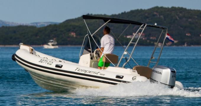 Location bateau Cantieri TEMPEST 600 + Honda 115 à Zadar sur Samboat