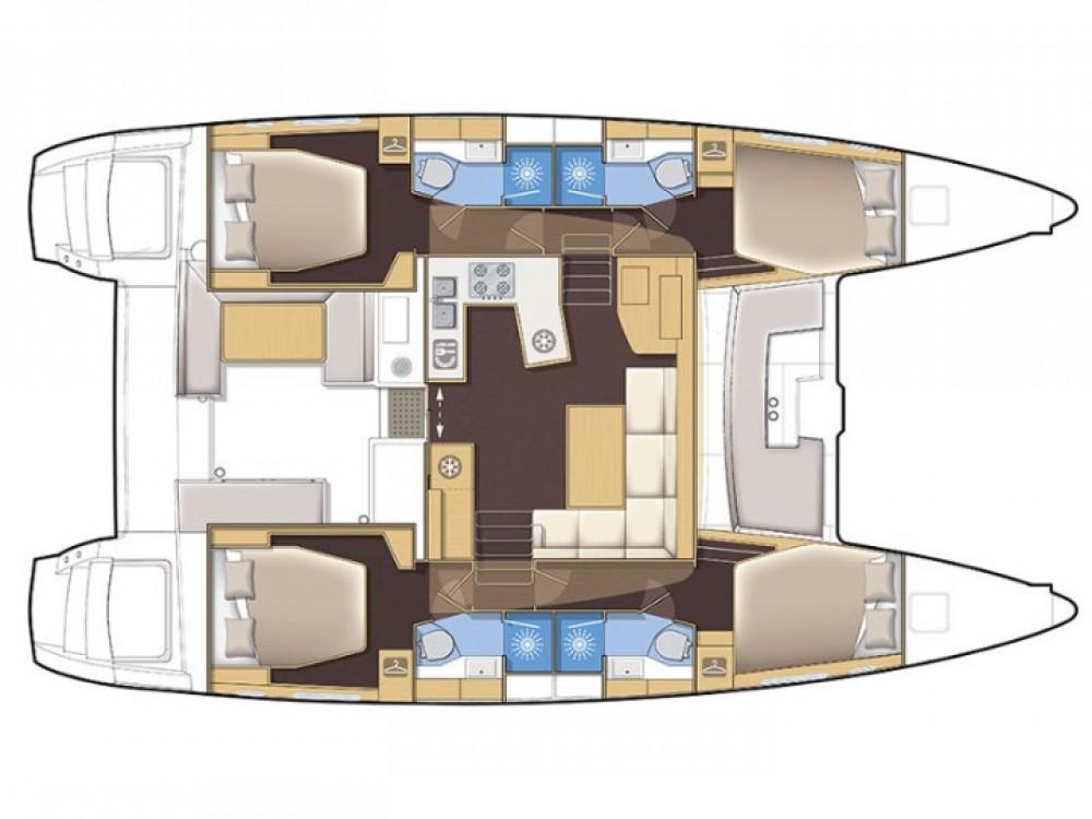 Location bateau Marina de Alimos pas cher Lagoon 450  Flybridge