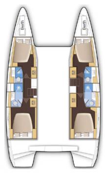 Location bateau Komolac pas cher Lagoon 42