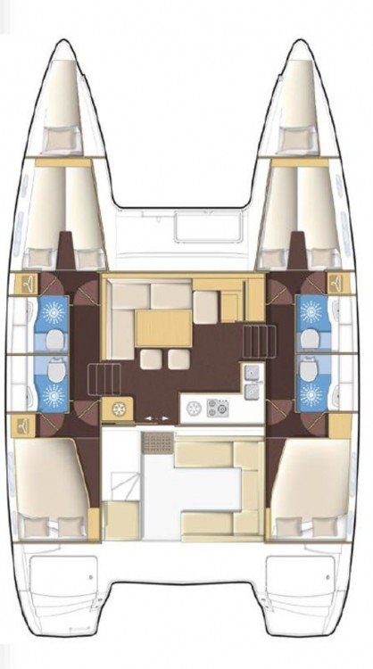 Louez un Lagoon Lagoon 400 S2 - 4 + 2 cab. à Seget Donji