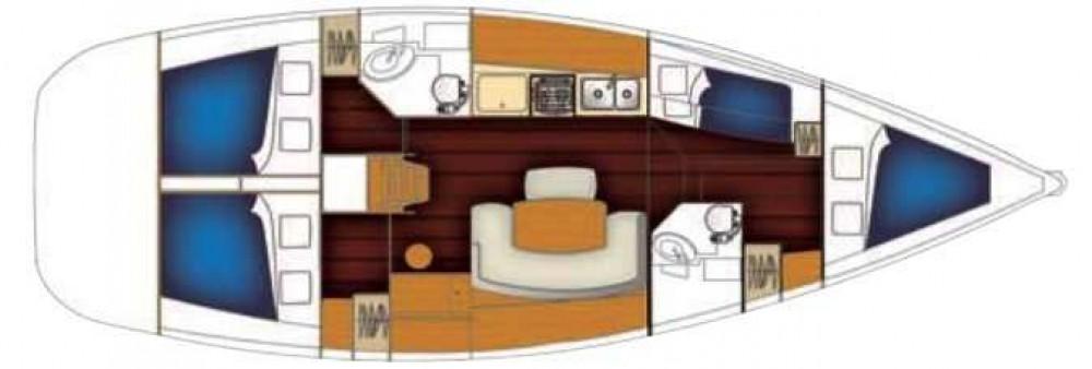 Location yacht à Kassándreia - Bénéteau Cyclades 434 sur SamBoat