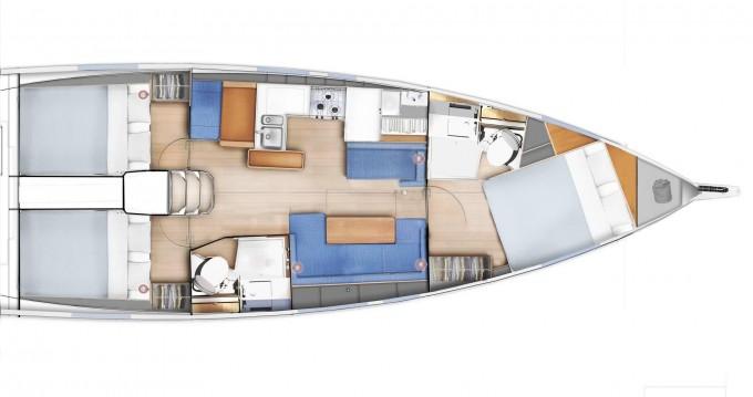Location bateau Jeanneau Sun Odyssey 410 à Kos sur Samboat
