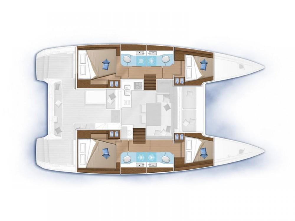 Location Catamaran à  - Lagoon Lagoon 40-4