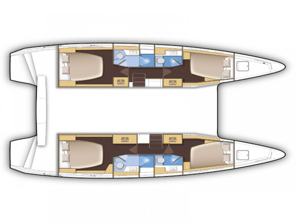 Location Catamaran à Marina Gouvia - Lagoon Lagoon 42
