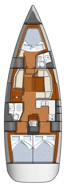 Location bateau Jeanneau Sun Odyssey 42 DS à Leucade sur Samboat