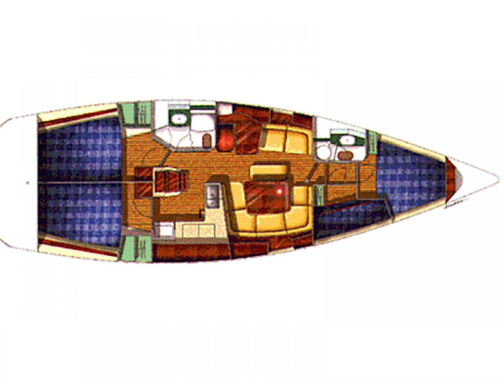 Jeanneau Sun Odyssey 43 entre particuliers et professionnel à