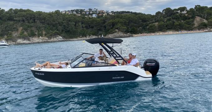 Location bateau Quicksilver Activ 605 Bowrider à Blanes sur Samboat