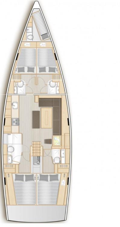 Location bateau Péloponnèse pas cher Hanse 508 - 5 cab.