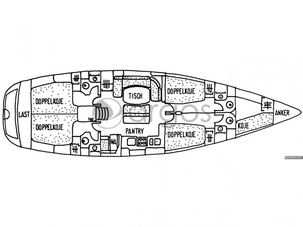 Location bateau  pas cher Beneteau 50-4