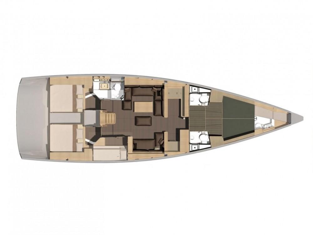 Location bateau Olbia pas cher Dufour 56 Exclusive
