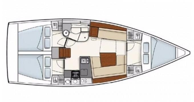 Location bateau Hanse Hanse 385 à Sukošan sur Samboat