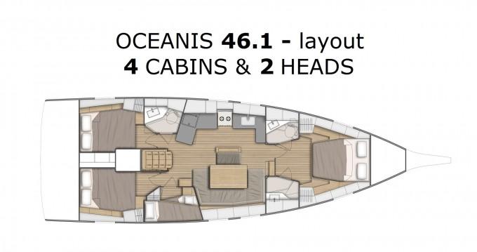 Location bateau Bénéteau Oceanis 46.1 à Pomer sur Samboat