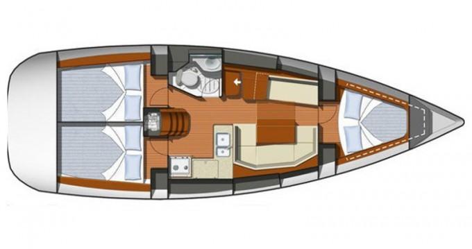 Location bateau Jeanneau Sun Odyssey 36i à Elefsína sur Samboat