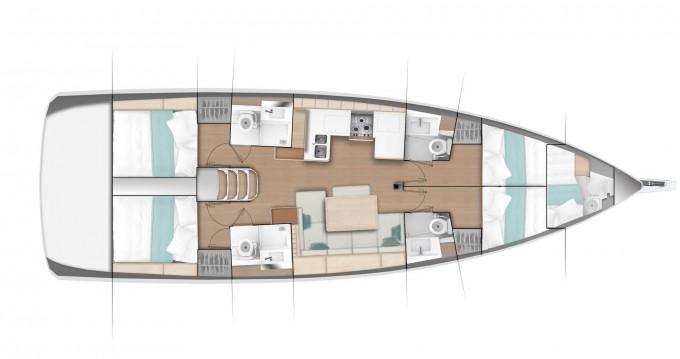 Location yacht à Nettuno - Jeanneau Sun Odyssey 490 sur SamBoat