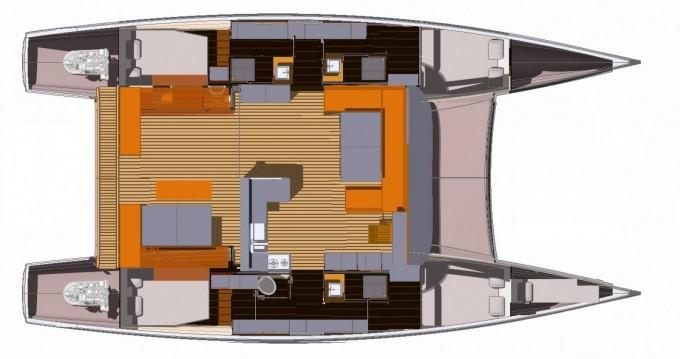 Louer Catamaran avec ou sans skipper Aventura à Le Marin