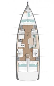 Location bateau Sibenik pas cher Sun Odyssey 490