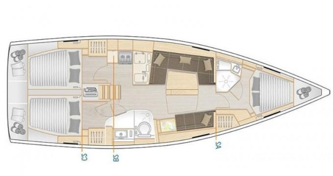 Location bateau Lávrio pas cher Hanse 418