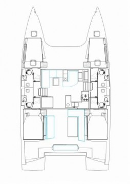 Nautitech Nautitech 46 Fly entre particuliers et professionnel à Palerme
