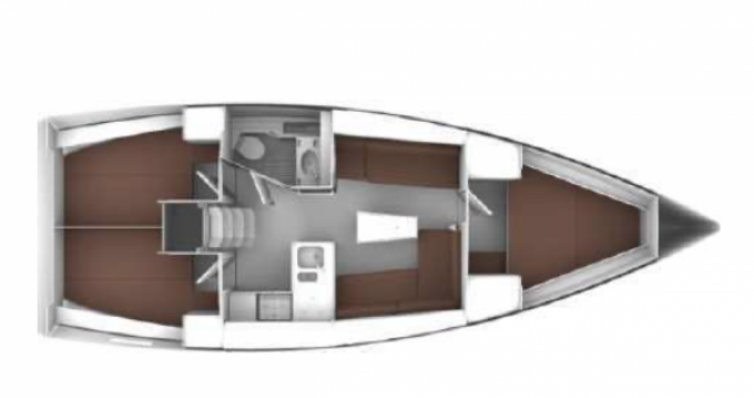 Location bateau Golfe-Juan pas cher Bavaria 37