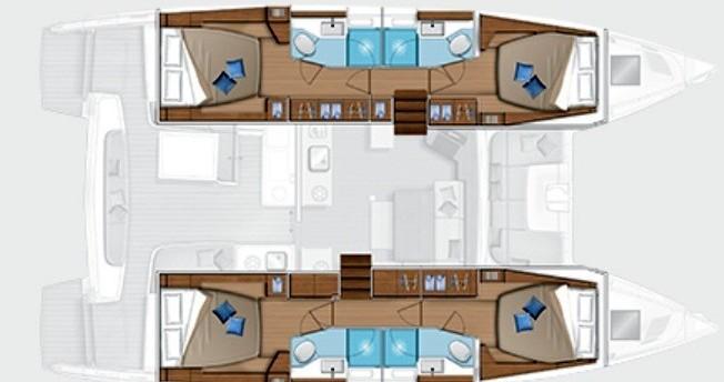 Location bateau Portisco pas cher Lagoon 46