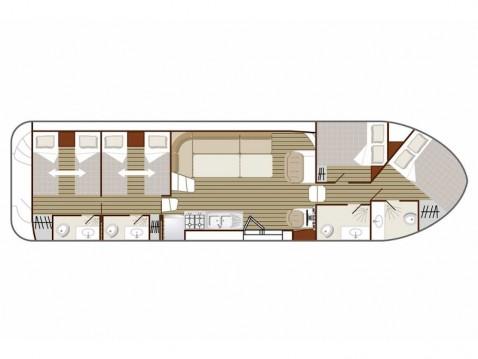 Location bateau Sablé-sur-Sarthe pas cher Confort 1350 B