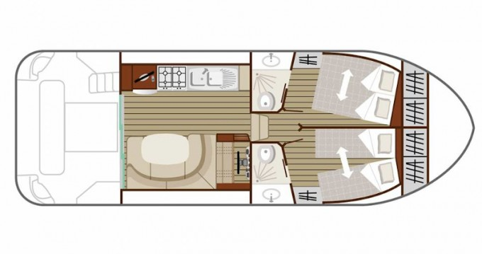 Location yacht à Cahors -  Estivale Quattro B sur SamBoat
