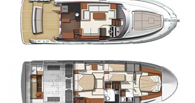 Location yacht à Sibenik - Jeanneau Prestige 500 Fly sur SamBoat