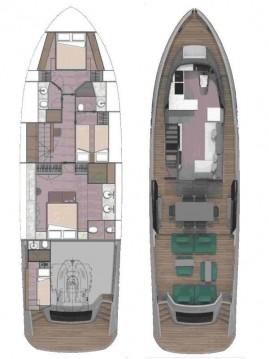Location yacht à Kaštela - Explorer Yacht Explorer Fly 62 sur SamBoat