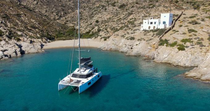Location bateau Santorin pas cher Nautitech 46 Fly