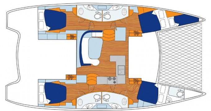 Location bateau Road Town pas cher Sunsail 454L